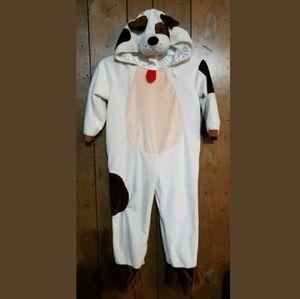 Kids Childs Puppy Dog Costume Size 4T Brown Beige